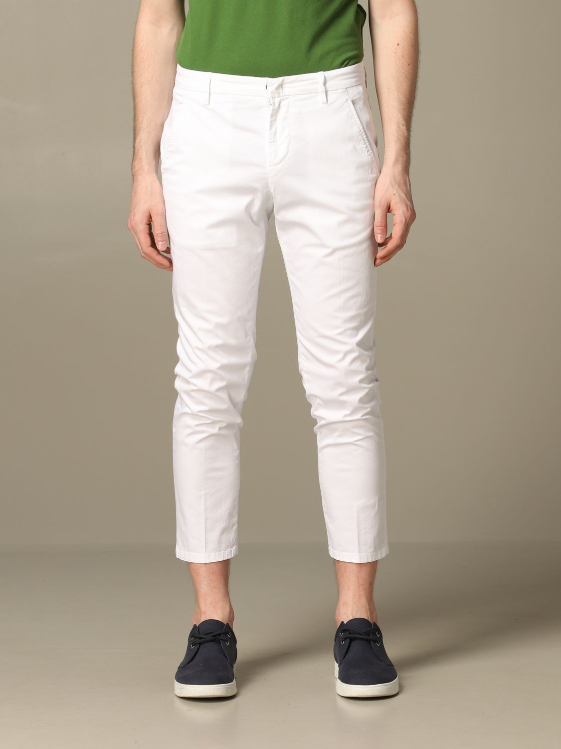 Pants Dondup: Pants men Dondup white 1