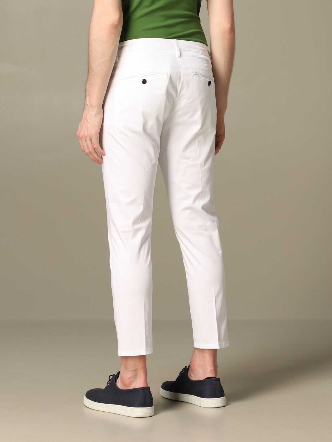 Pants Dondup: Pants men Dondup white 2