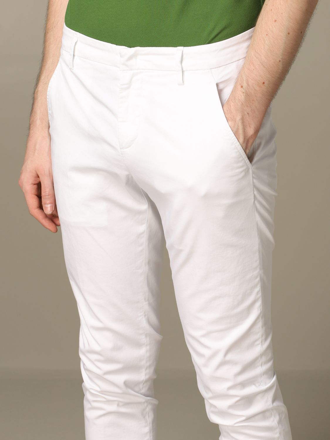 Pants Dondup: Pants men Dondup white 3
