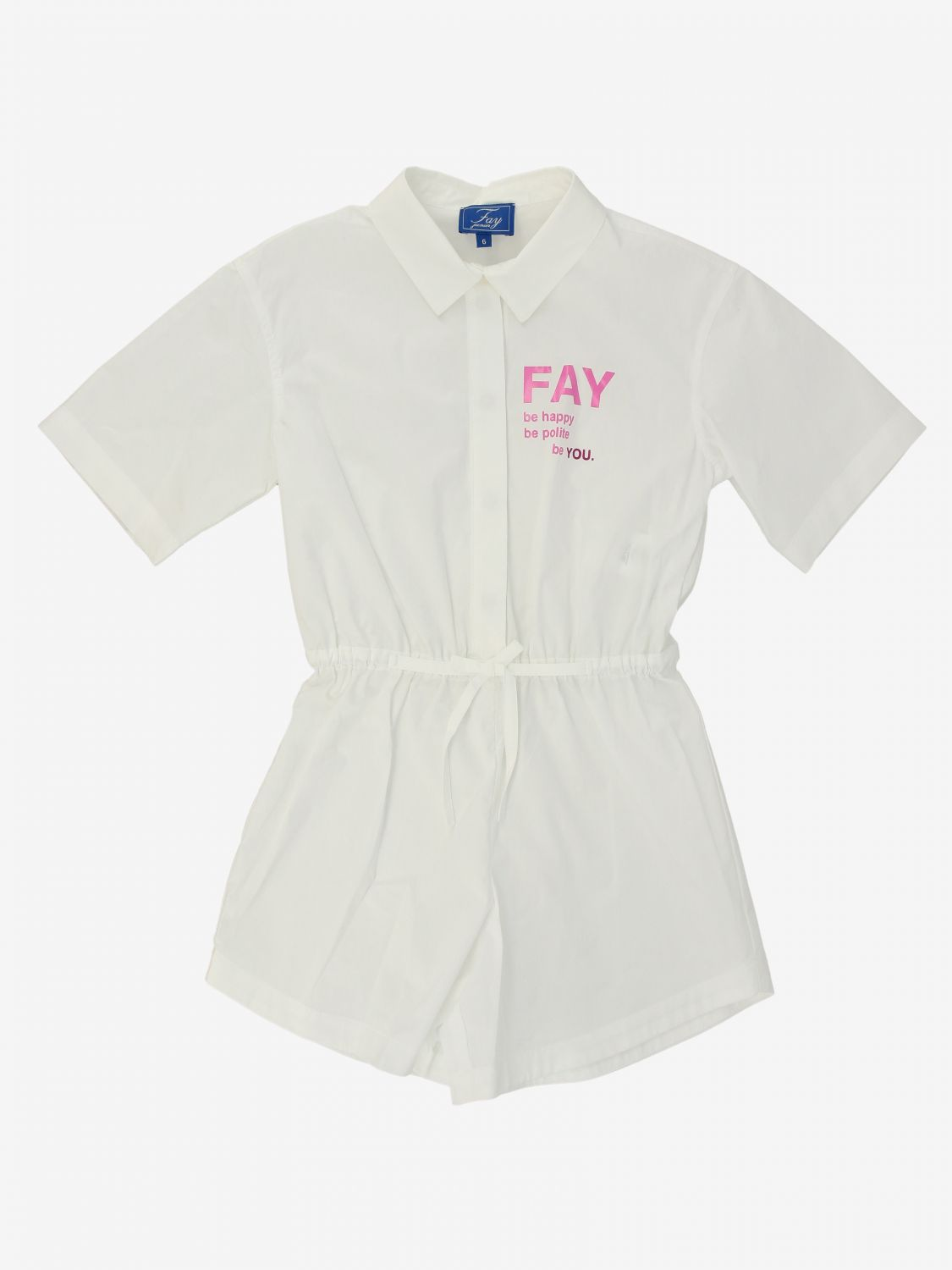 Tracksuit Fay: Fay short suit with logo white 1