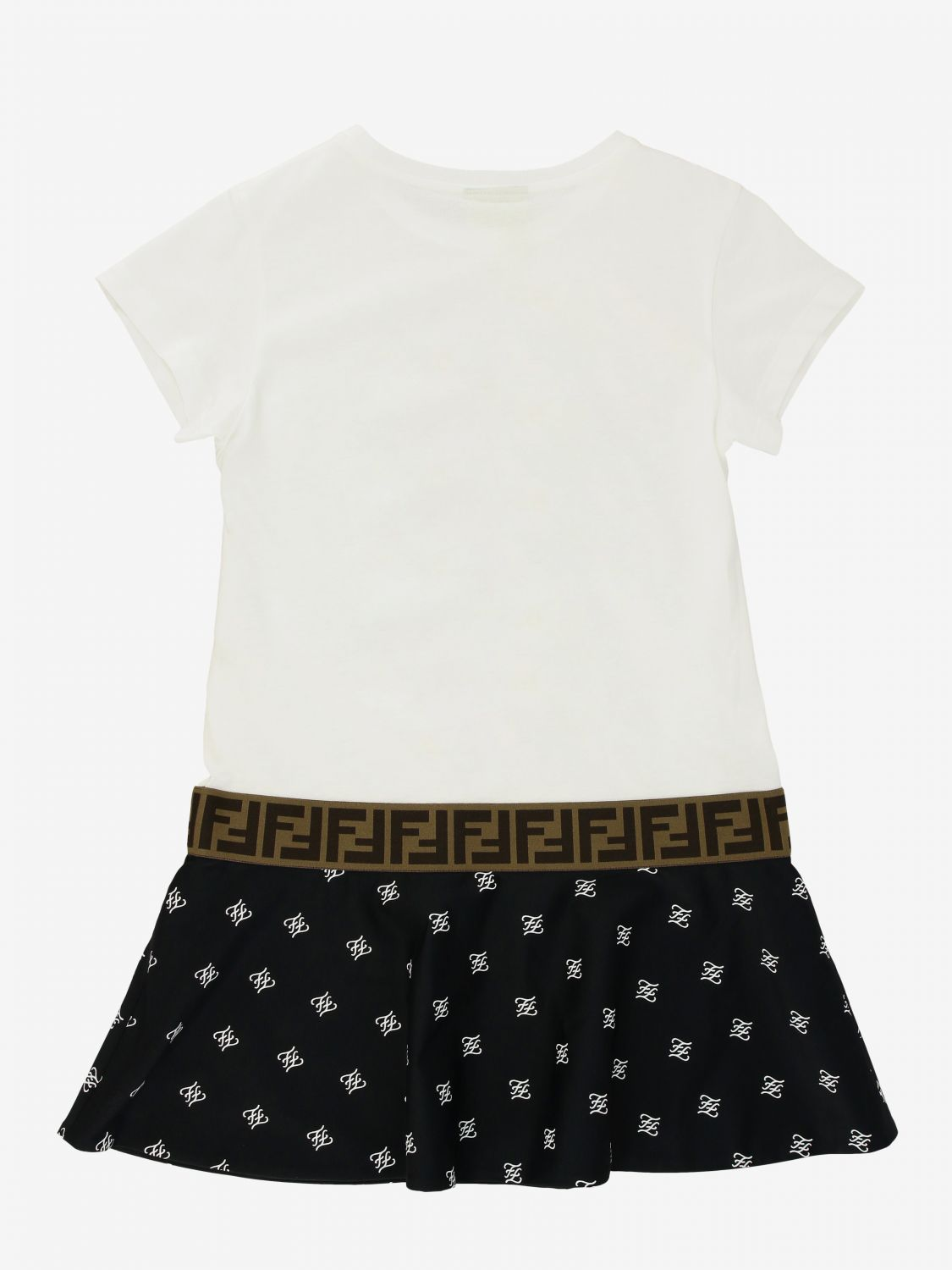 Fendi dress with all over FF logo and bottom white 2