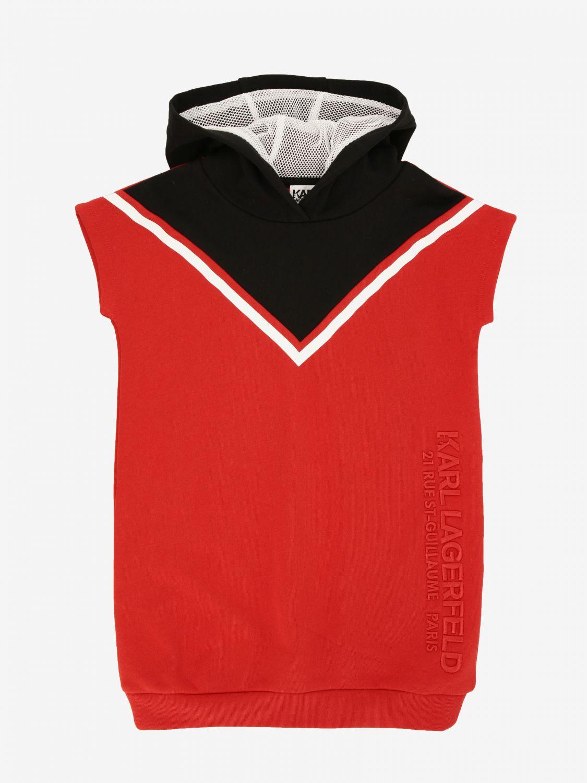 Karl Lagerfeld Kapuzen Kleid rot 1