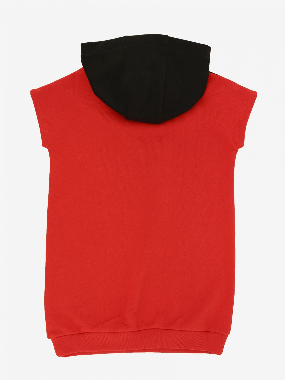 Karl Lagerfeld Kapuzen Kleid rot 2