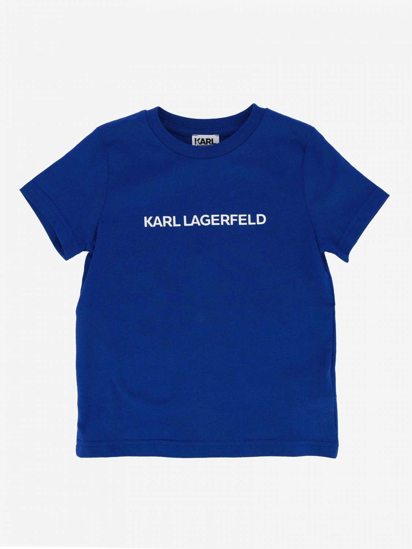 Pullover kinder Karl Lagerfeld Kids blau 1