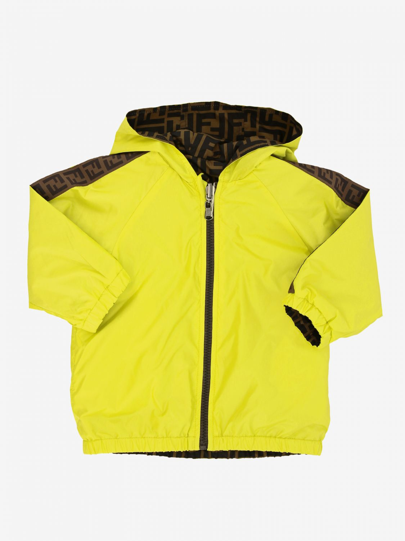 Fendi reversible nylon jacket with FF monogram lemon 1
