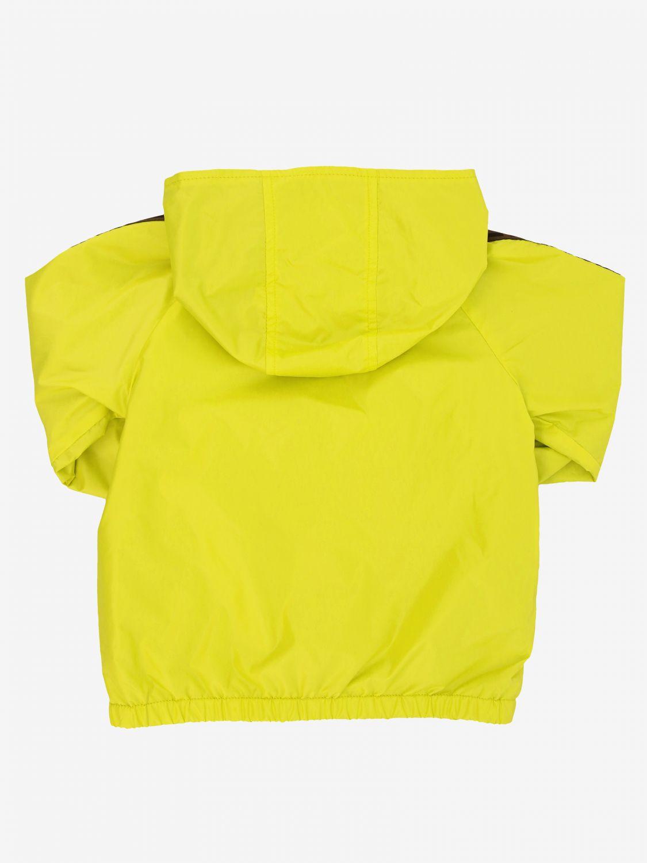Fendi reversible nylon jacket with FF monogram lemon 2