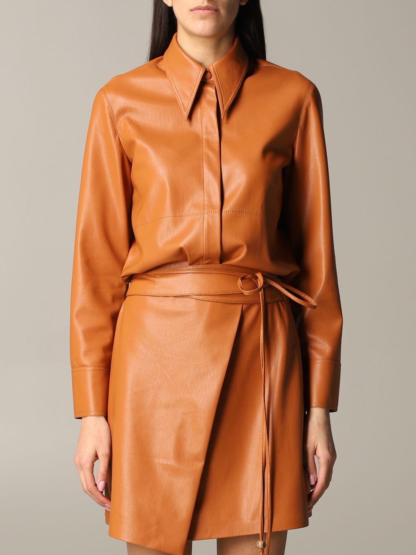 Shirt Nanushka: Nanushka leather shirt orange 1