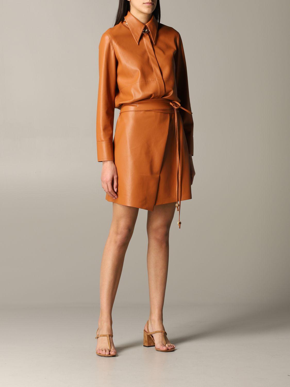 Shirt Nanushka: Nanushka leather shirt orange 2