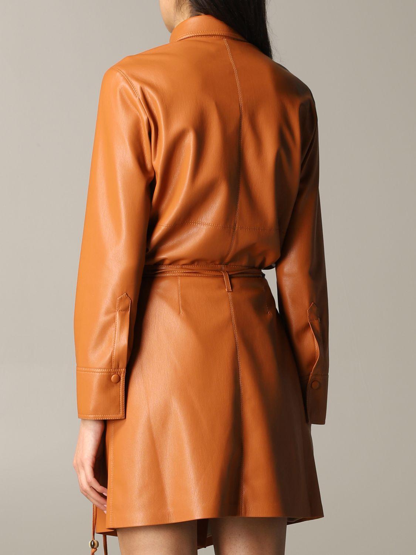 Shirt Nanushka: Nanushka leather shirt orange 3