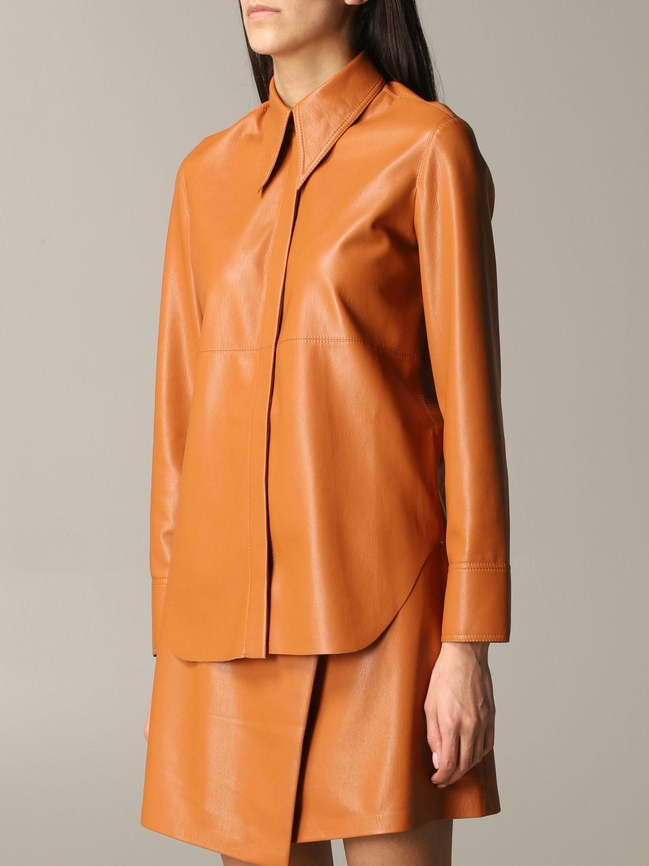 Shirt Nanushka: Nanushka leather shirt orange 4