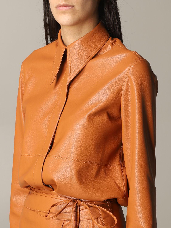 Shirt Nanushka: Nanushka leather shirt orange 5