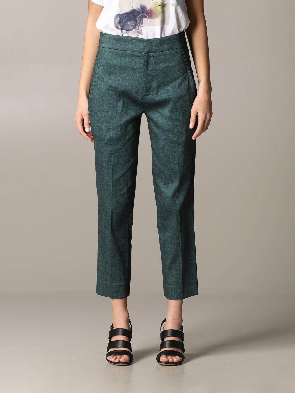 Pantalone Tela regular fit verde 1