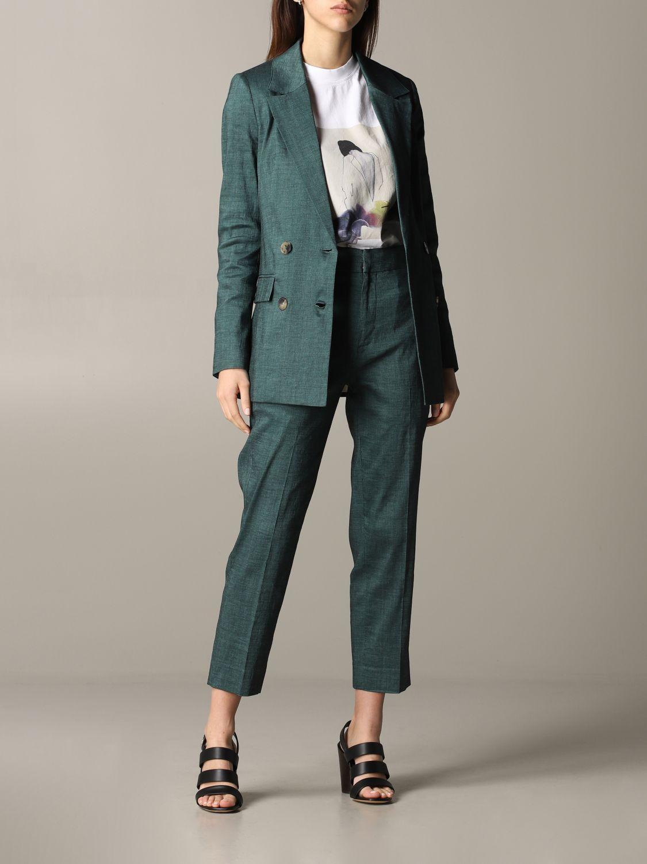 Pantalone Tela regular fit verde 2