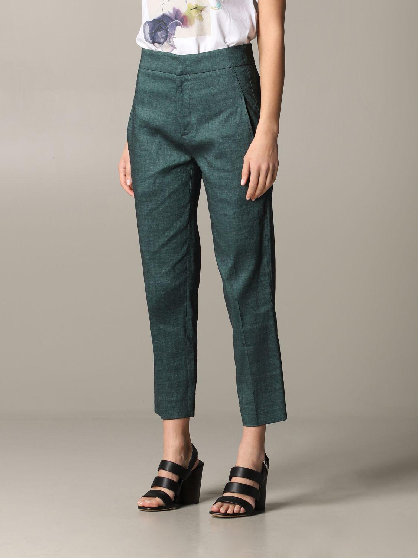 Pantalone Tela regular fit verde 4