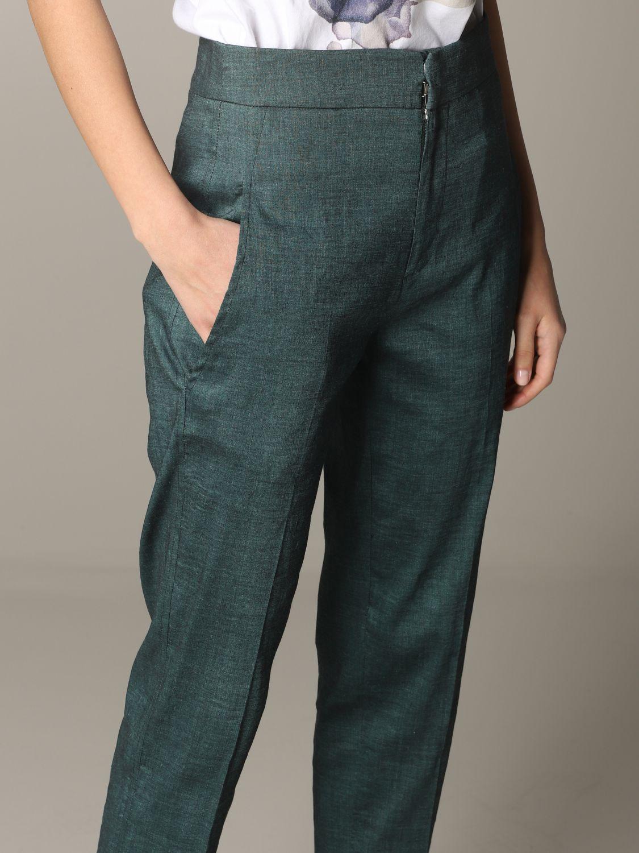 Pantalone Tela regular fit verde 5
