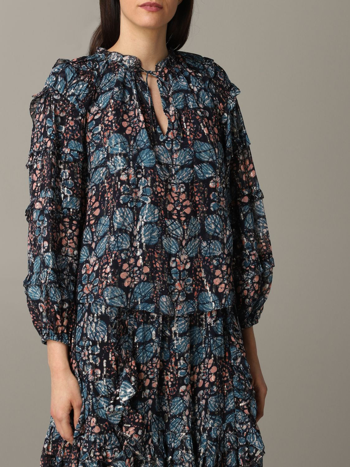 Chemise Ulla Johnson: Pull Ulla Johnson à motif floral multicolore 5