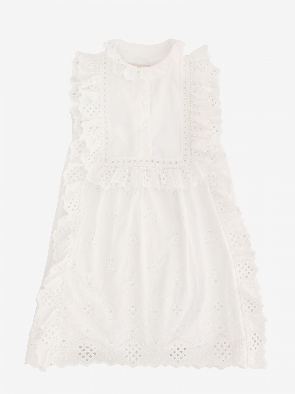连衣裙 Alberta Ferretti Junior: Alberta Ferretti Junior Sangallo 连衣裙 白色 1