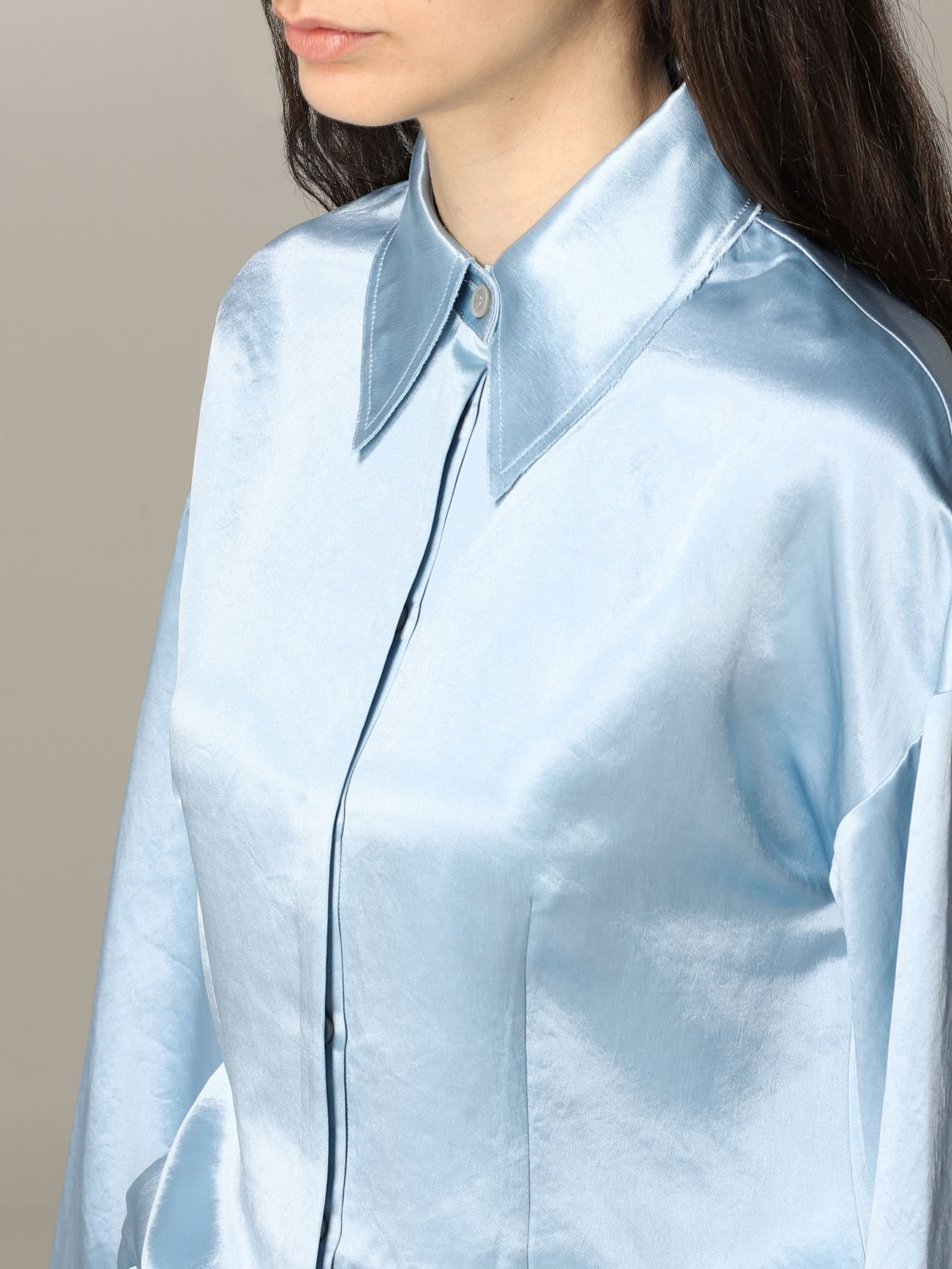 Shirt Acne Studios: Acne Studios wide shirt gnawed blue 5