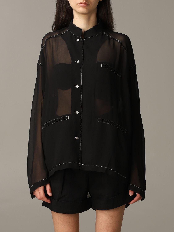 衬衫 Acne Studios: 衬衫 女士 Acne Studios 黑色 1