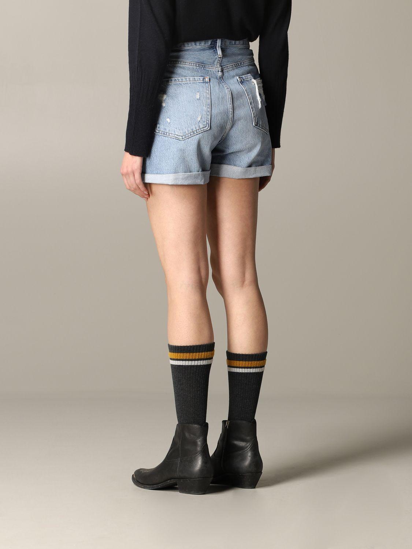 Pantaloncino di jeans Frame con rotture blue 3
