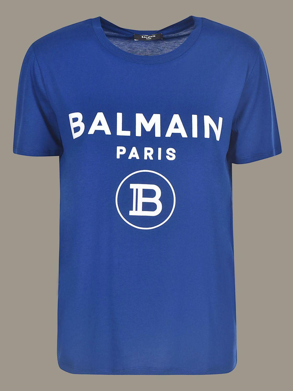 Balmain T-shirt with logo blue 1
