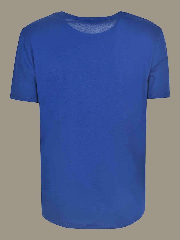 Balmain T-shirt with logo blue 2