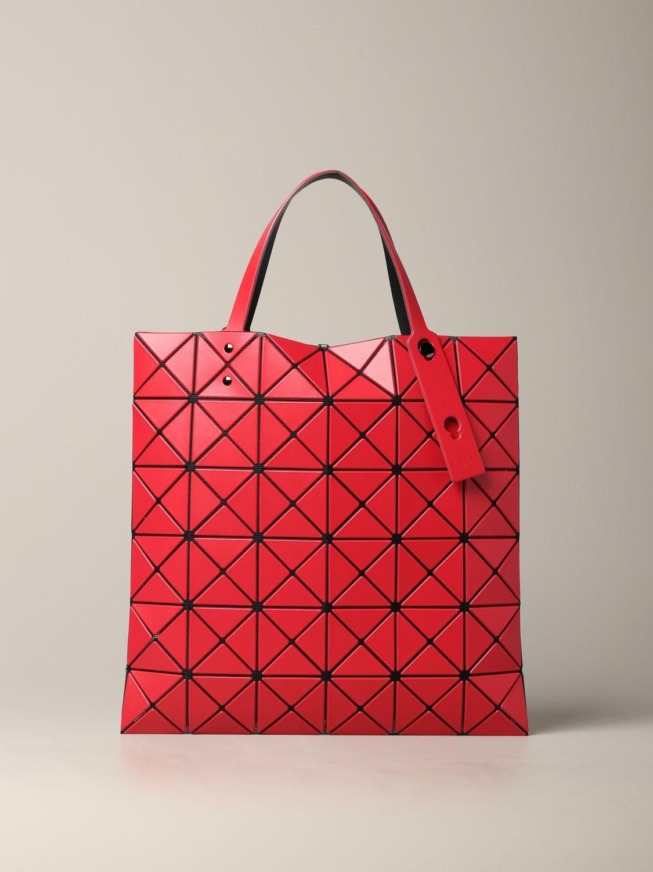 Sac cabas Bao Bao Issey Miyake avec motif géométrique rouge 1