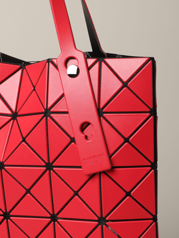 Sac cabas Bao Bao Issey Miyake avec motif géométrique rouge 4