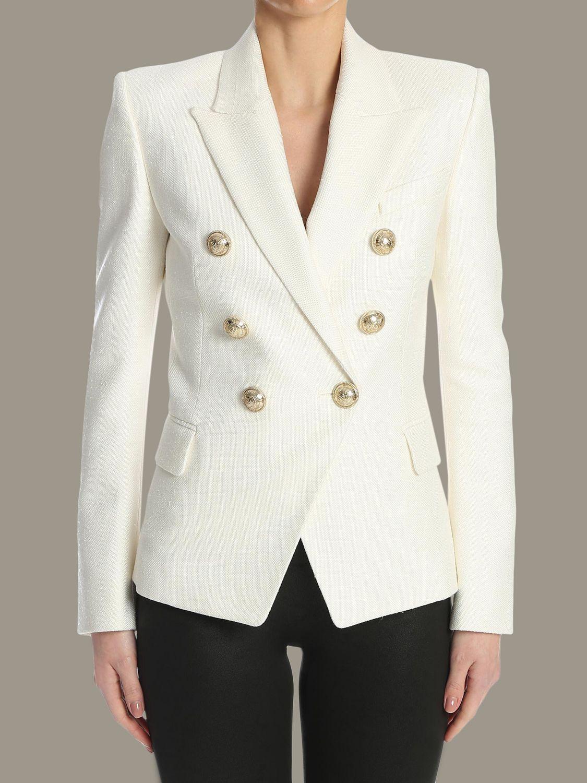 Jacket Balmain: Jacket women Balmain white 1