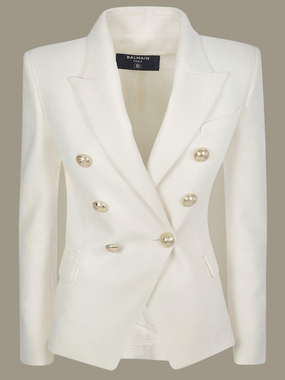 Jacket Balmain: Jacket women Balmain white 2