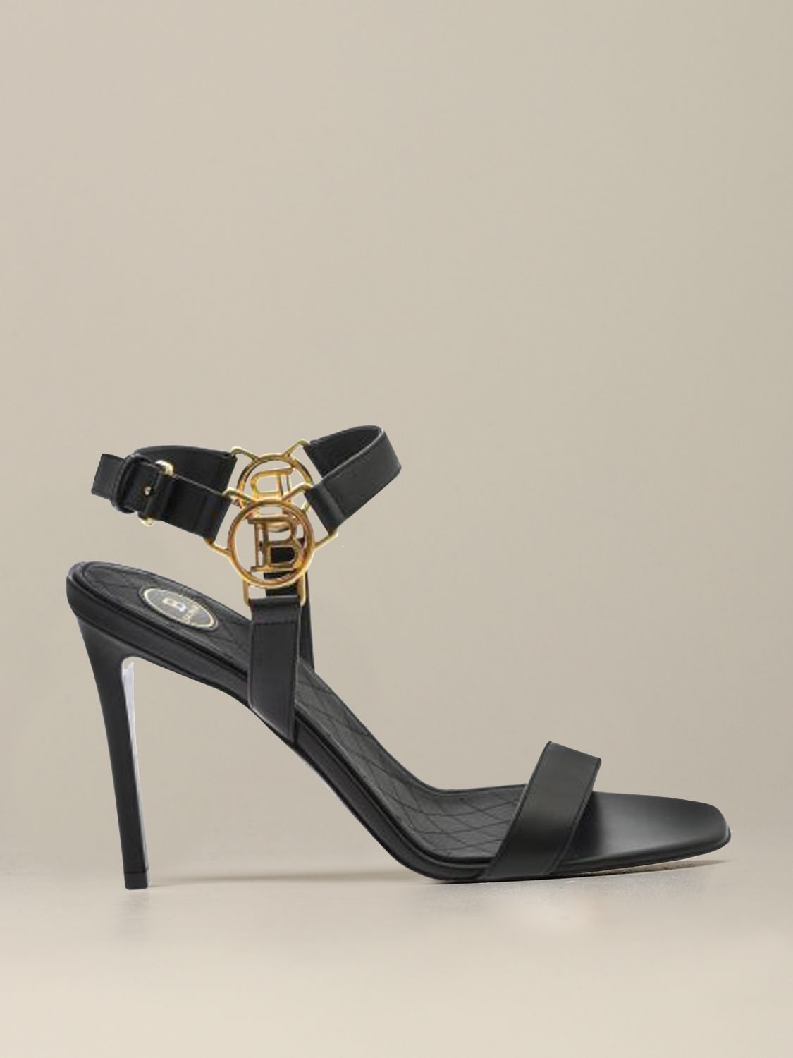 Heeled sandals Balmain: Heeled sandals women Balmain black 1