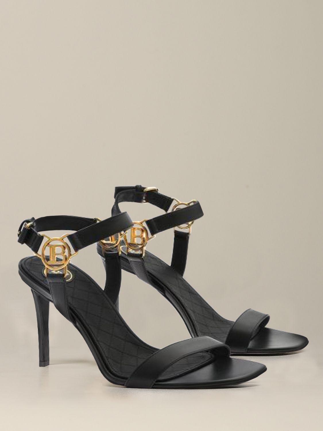 Heeled sandals Balmain: Heeled sandals women Balmain black 2