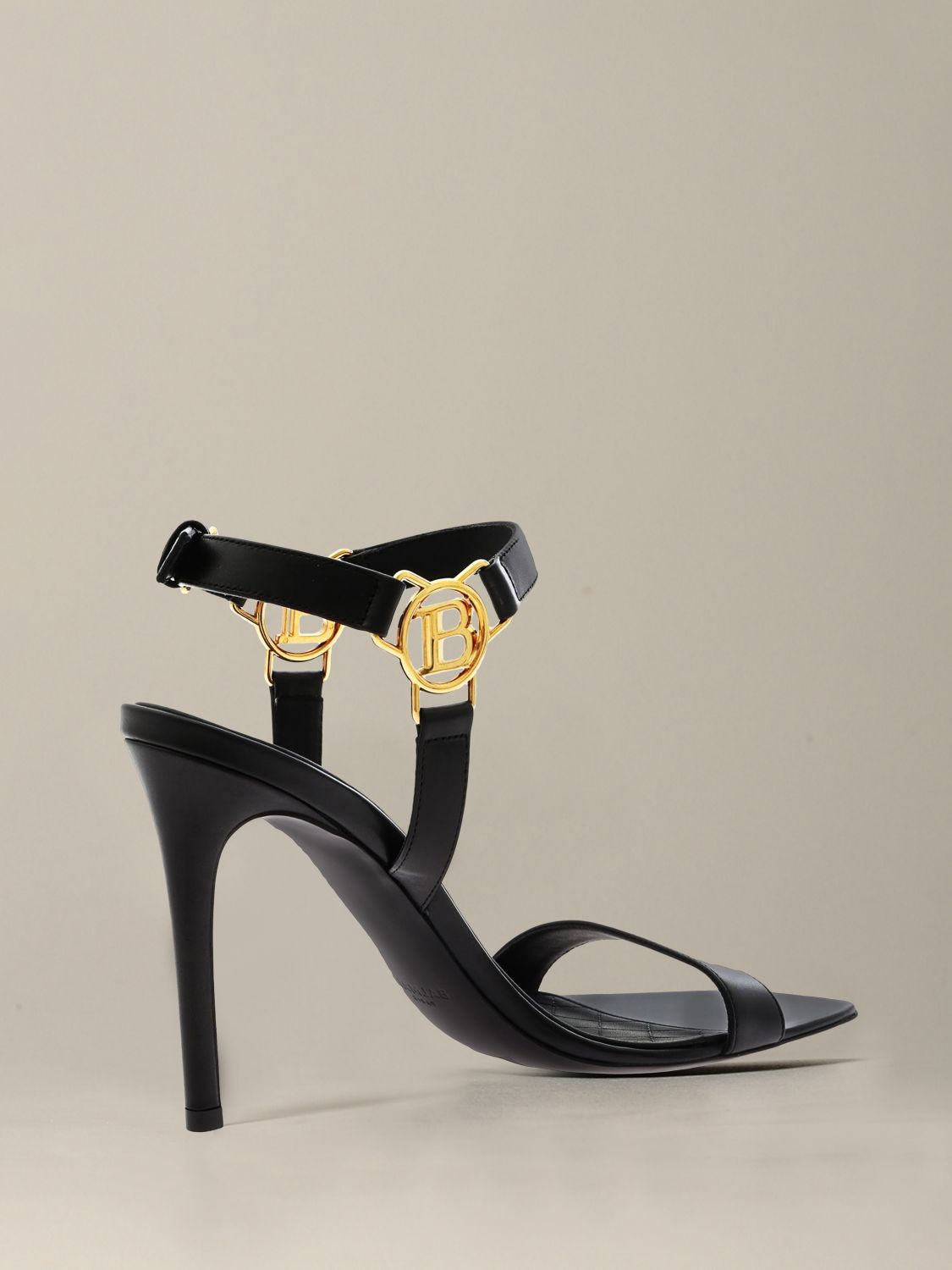 Heeled sandals Balmain: Heeled sandals women Balmain black 4