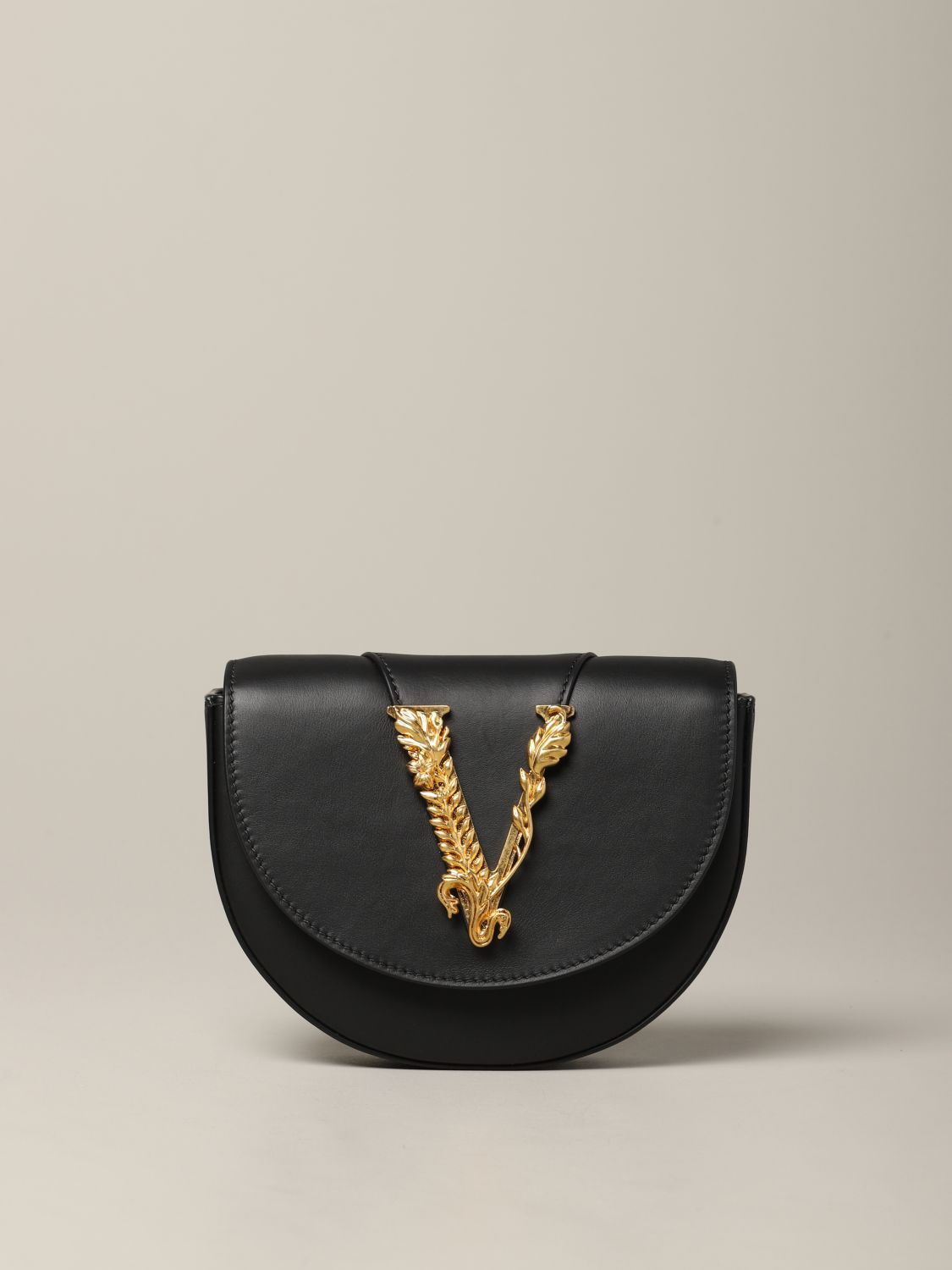 Versace leather bag / pouch with V Virtus black 1
