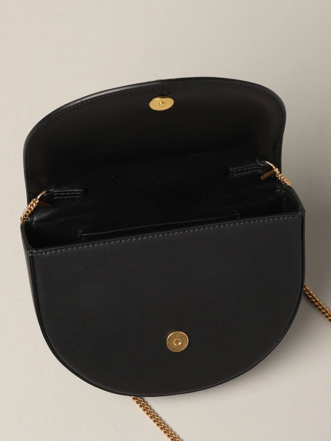 Versace leather bag / pouch with V Virtus black 6