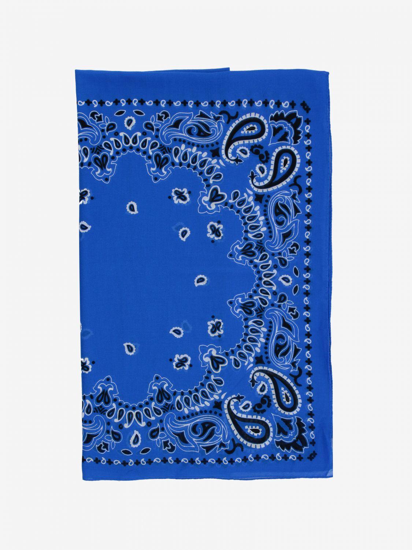 Sciarpa Destin con stampa bandana azzurro 1