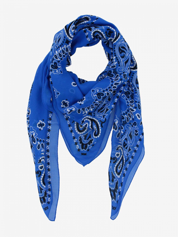 Sciarpa Destin con stampa bandana azzurro 2