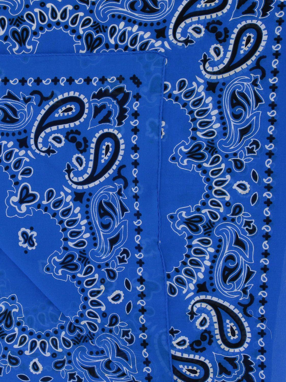 Sciarpa Destin con stampa bandana azzurro 3