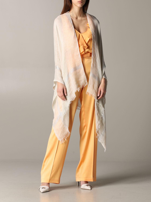 Mantella Destin: Mantella Destin in tessuto velato beige 2
