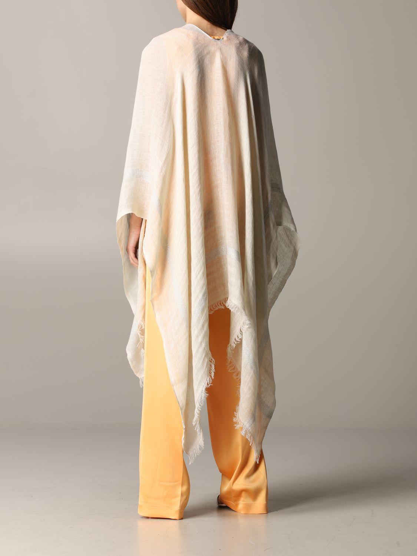 Mantella Destin: Mantella Destin in tessuto velato beige 3