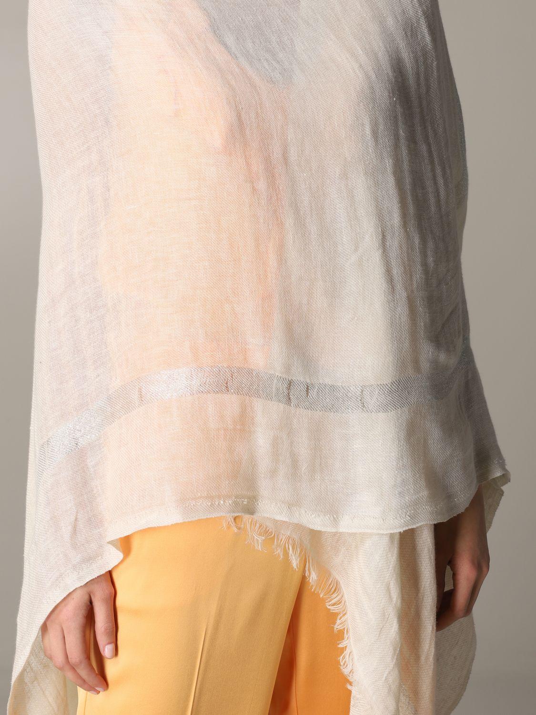 Mantella Destin: Mantella Destin in tessuto velato beige 5