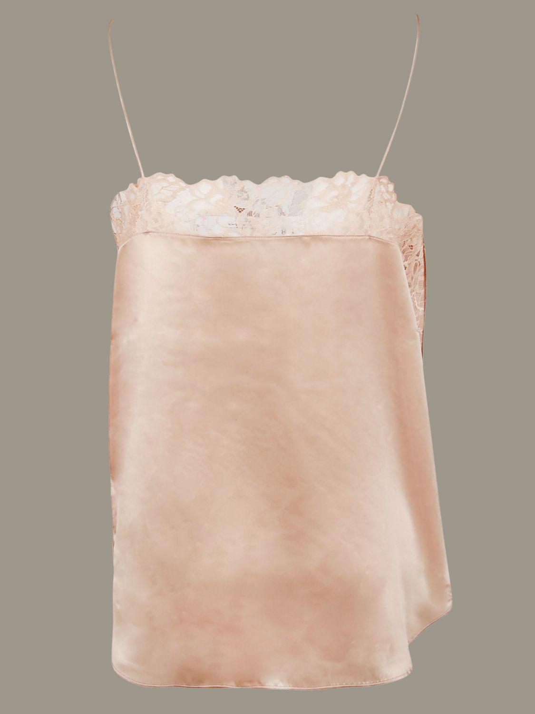 Top Iro con finiture in pizzo rosa 2