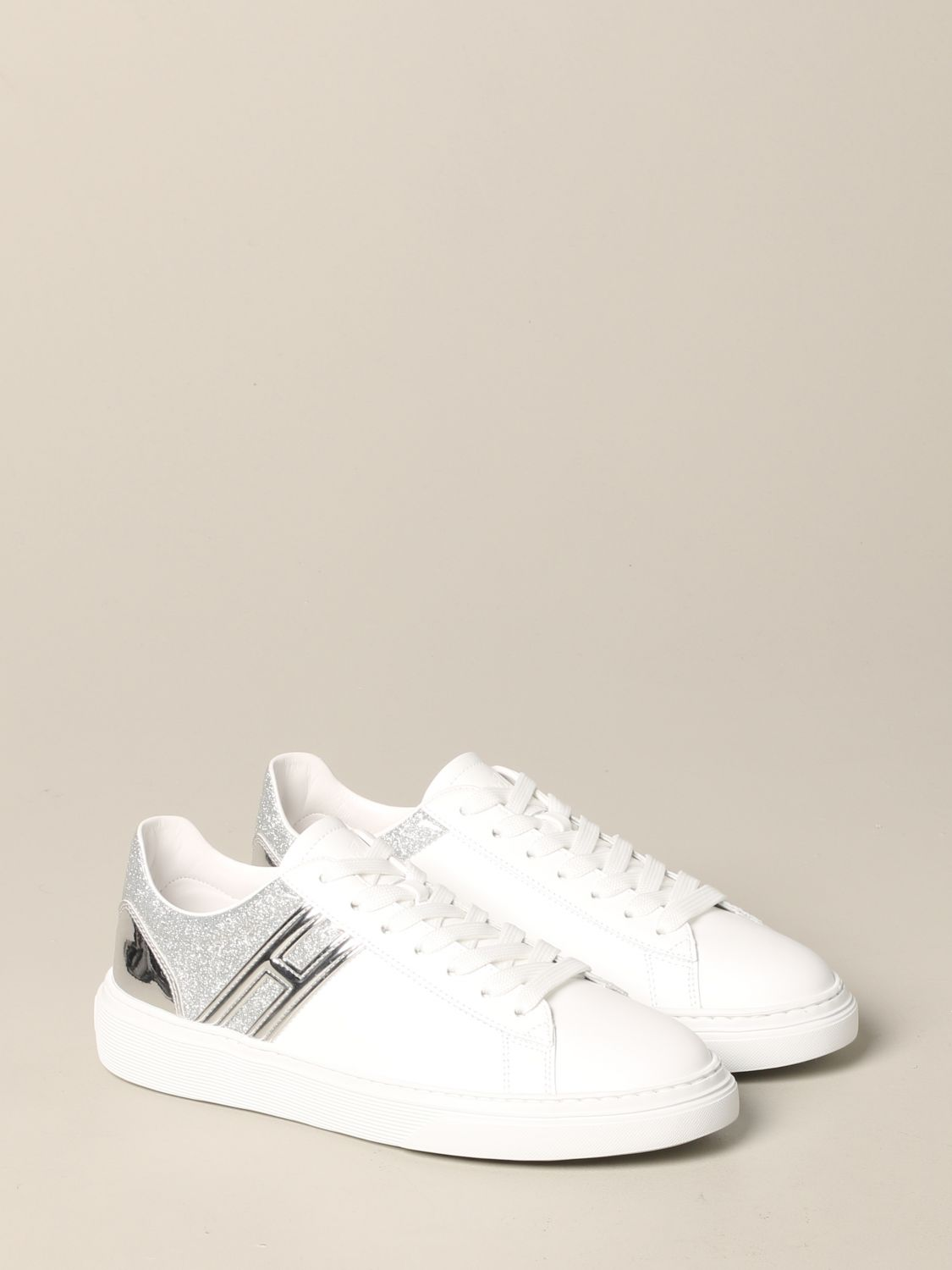 365 Hogan sneakers in leather and glitter with big H