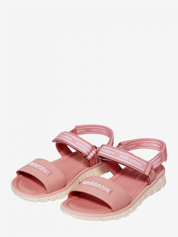 Scarpe Dolce & Gabbana: Sandalo Dolce & Gabbana con logo bianco 2