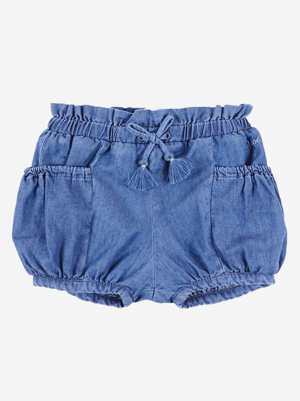 Pantaloncino Chloé: Pantaloncino a culotte Chloé con tasche blue 1