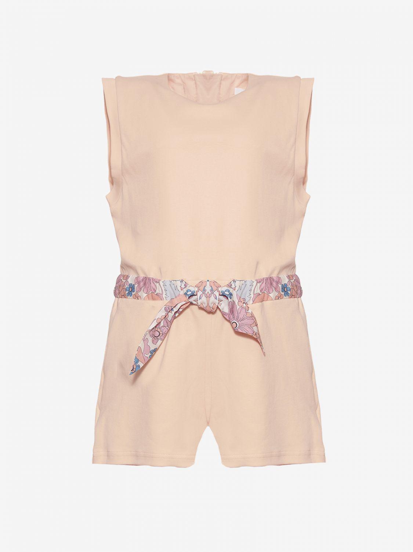 Tuta Chloé con cinta a fantasia rosa 1