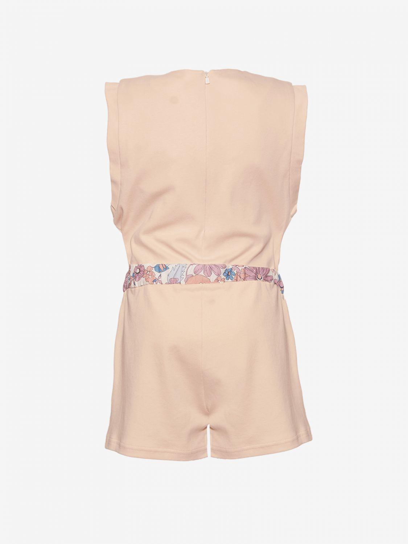 Tuta Chloé con cinta a fantasia rosa 2