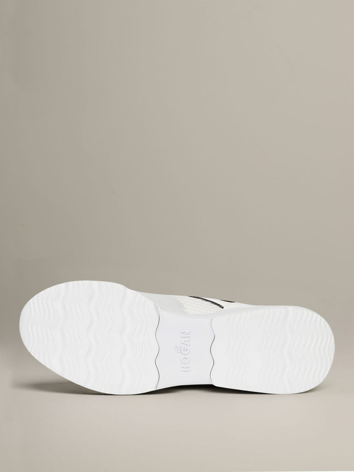 Hogan sneakers in leather and mesh with elongated H white 5