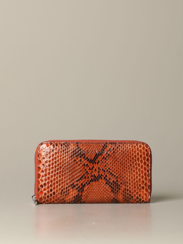 Wallet women Orciani orange 1