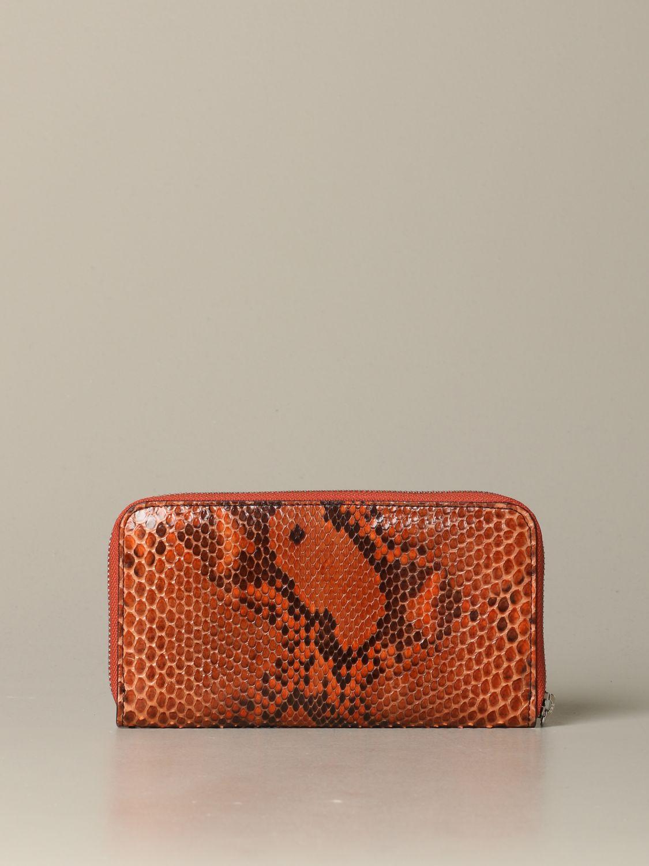 Wallet women Orciani orange 3